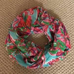 Lilly Pulitzer Infinity Loop Scarf Floral Blue